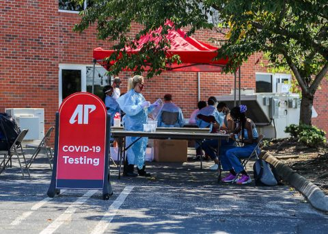 Austin Peay State University set up a COVID-19 testing site last summer. (APSU)