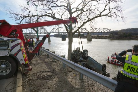 A vehicle was pulled from the Cumberland River Sunday afternoon. There was a deceased woman found in the car.
