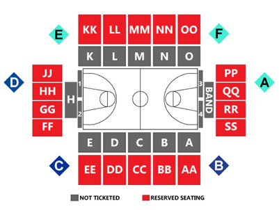 Dunn Center Seating Chart and Gate Map