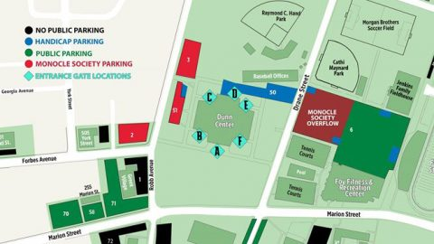 Gameday Parking and Gate Map