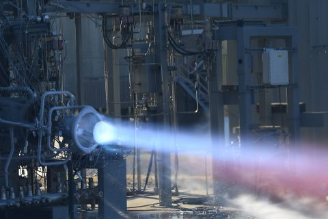Hot-fire testing of an additively manufactured copper alloy combustion chamber and a nozzle made of a high-strength hydrogen resistant alloy. (NASA)