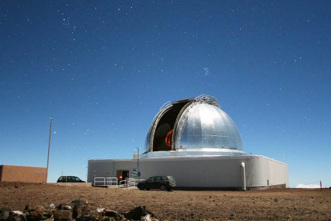 In addition to supporting a variety of NASA planetary missions, NASA's Infrared Telescope Facility on Maunakea on the Big Island of Hawaii is also used to determine the composition of near-Earth objects. (University of Hawaii Institute for Astronomy / Michael Connelley)