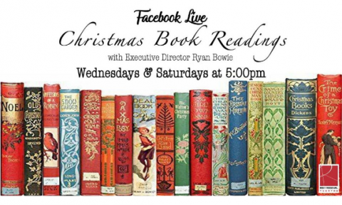 Roxy Regional Theatre presents Christmas Book Readings by Ryan Bowie on Wednesdays and Saturdays at 5:00pm.