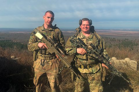 Staff Sgt. Anthony McAlister and Cpl. Joseph Stainbeck, from the Tennessee National Guard's 278th Armored Cavalry Regiment, competed at this year's Winston P. Wilson Sniper Championship, December 4th-10th, at Fort Chaffee, AR. (Staff Sgt. Timothy Cordeiro, Tennessee National Guard Public Affairs Office)