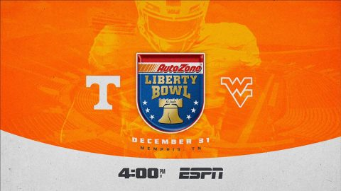 Tennessee Football, West Virginia To Square Off in 62nd AutoZone Liberty Bowl on New Year's Eve. (UT Athletics)