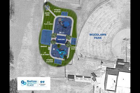 Woodlawn Park – Community Hub Aerial View