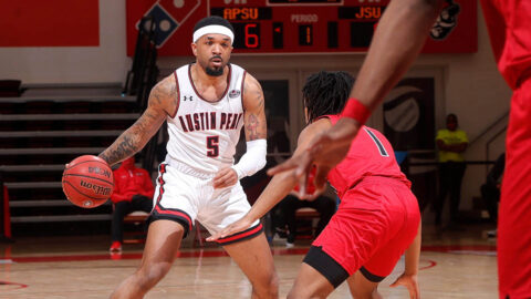 Austin Peay State University Men's Basketball goes cold late in loss to Jacksonville State at the Dunn Center Saturday night. (APSU Sports Information)