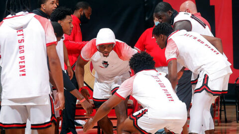 Austin Peay State University Men's Basketball set to play 2:00pm game against SIU Edwardsville at the  Vadalabene Center, Monday. (Robert Smith, APSU Sports Information)