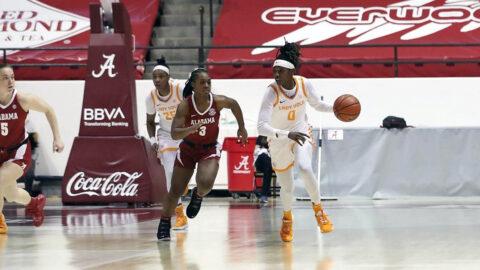 Tennessee Women's Basketball senior Rennia Davis had 21 points in win over Alabama, Sunday. (UT Athletics)