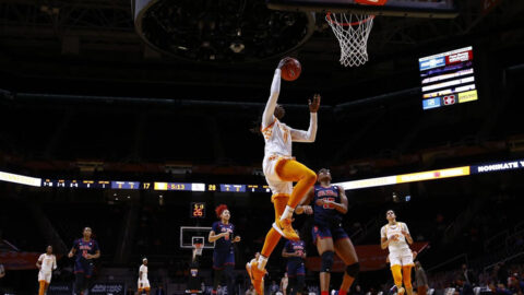 Tennessee Women's Basketball senior Rennia Davis had 21 points and seven rebounds in win over Ole Miss Thursday night. (UT Athletics)