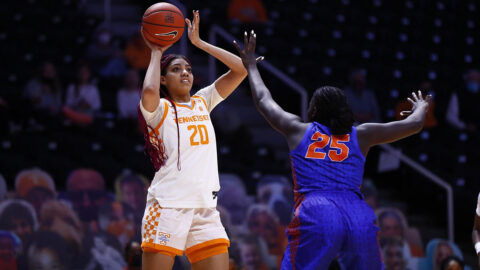 Tennessee Women's Basketball sophomore Tamari Key scored 23 points, had 10 rebounds, and blocked 10 shots in Lady Vols win over Florida Gators, Saturday. (UT Athletics)