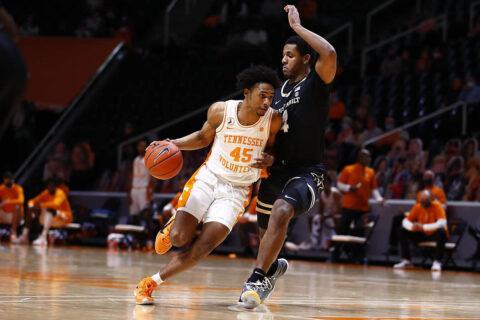 Tennessee Men's Basketball freshman guard Keon Johnson scored 16 points in win over Vanderbilt, Saturday night. (UT Athletics)