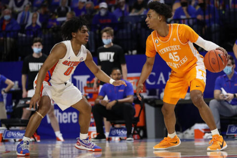 Tennessee Men's Basketball unable to wrangle Florida Gators in 75-49 loss Tuesday night. (UT Athletics)