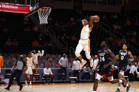 Tennessee Men's Basketball gets 56-53 victory over Mississippi at Thompson-Boling Arena Tuesday night. (UT Athletics)