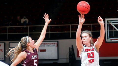 Austin Peay State University Women's Basketball junior hit six 3-pointers Saturday against Eastern Kentucky. (APSU Sports Information)