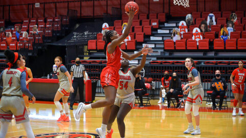 Austin Peay State University Women's Basketball takes down SIU Edwardsville 73-54, Improves to 4-0 in OVC play. (APSU Sports Information)
