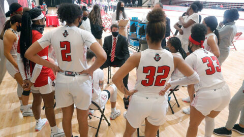 Austin Peay State University Women's Basketball loses to Tennessee Tech at the Dunn Center, 66-61. (Robert Smith, APSU Sports Information)