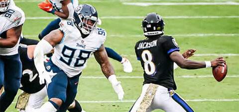 Tennessee Titans host the Baltimore Ravens in wild card playoff game. (Tennessee Titans)