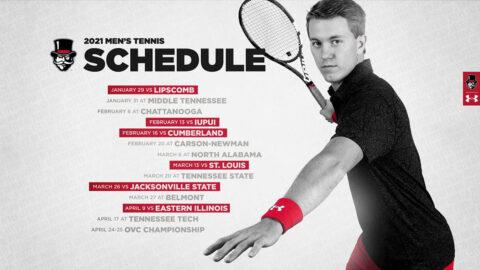 2021 Austin Peay State University Men's Tennis Schedule. (APSU)
