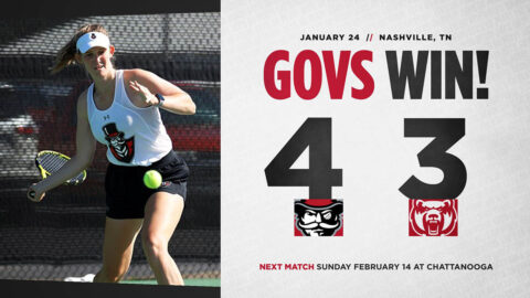 Austin Peay State University Women's Tennis holds off Central Arkansas in season opener, 4-3. (APSU Sports Information)