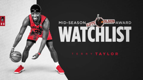 Austin Peay State University Basketball's Terry Taylor named to Lute Olson Award Mid-Season Watch List. (APSU Sports Information)