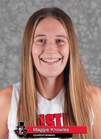 APSU Women's Basketball - Maggie Knowles. (Robert Smith, APSU Sports Information)