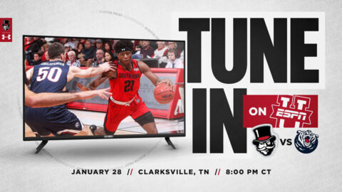 Austin Peay State University Men's Basketball contest against Belmont to be shown on ESPNU, January 28th. (APSU Sports Information)