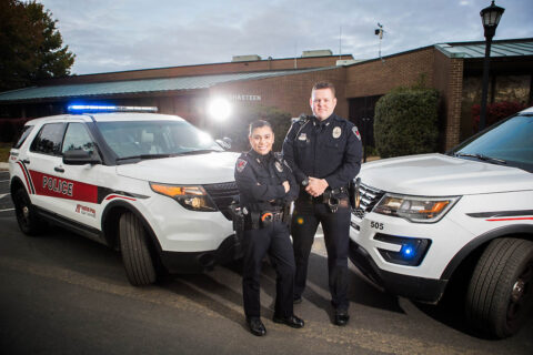 Austin Peay State University Police Department receives two safety awards at annual Law Enforcement Challenge. (APSU Sports Information)