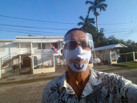 Austin Peay State University professor Dr. Young leaves early to vote on Election Day in Belize. (APSU)