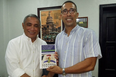Austin Peay State University professor Dr. Young and the Honorable John Briceño, Belize's new prime minister. (APSU)