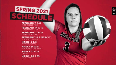 Austin Peay State Unviersity Volleyball Spring Schedule 2021. (APSU Sports Information)