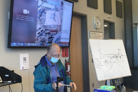 "Artist Tim Pafford led a ""Winter Landscape"" watercolor workshop in December. (APSU)"