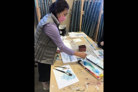 Austin Peay State University students learned composition, drawing and watercolor techniques. (APSU)