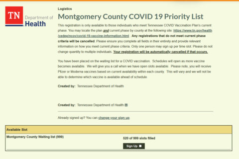 Montgomery County COVID 19 Priority List