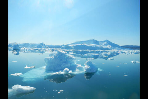 Warmer ocean waters are speeding up the rate at which Greenland's glaciers are melting and calving, or breaking off to form icebergs. This is causing the glaciers to retreat toward land, hastening the loss of ice from Greenland's Ice Sheet. (NASA/JPL-Caltech)