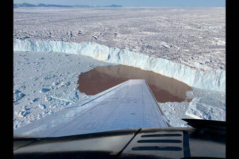 The OMG mission also carried out depth and salinity measurements of Greenland's fjords occupied by marine-terminating glaciers by boat. These measurements complement those provided by probes dropped from aircraft to create the most comprehensive survey to date of Greenland's melting glaciers. (NASA/JPL-Caltech)