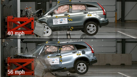 New AAA and IIHS crash tests reveal that modest speed increases can have deadly consequences. (AAA)