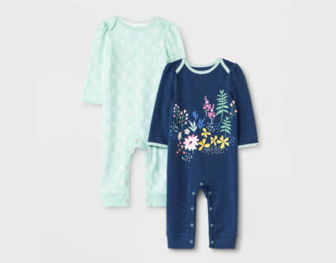 Recalled Cloud Island Little Wildflower and Joyful Mint Rompers