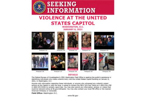 Seeking Information on Violence at U.S. Capitol
