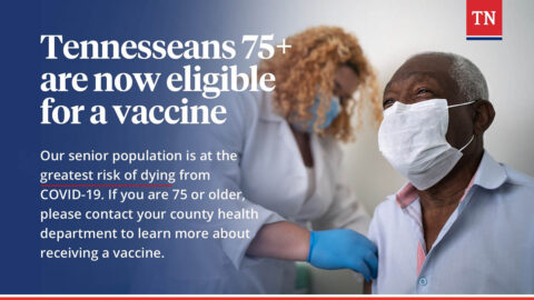 Tennesseans 75 and up now eligible for a vaccine