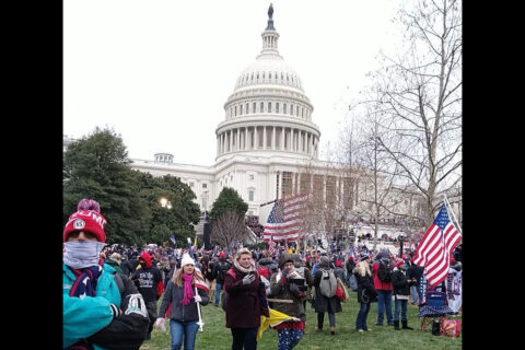 Protesters at the U.S. Capitol on January 6th, 2021.