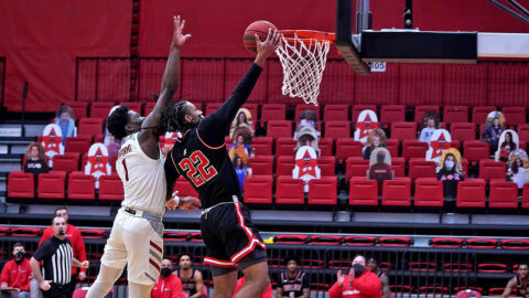 Austin Peay State University Men's Basketball sophomore Alec Woodard scored 13 points and had six rebounds in win over SIU Edwardsville Tuesday afternoon. (APSU Sports Information)
