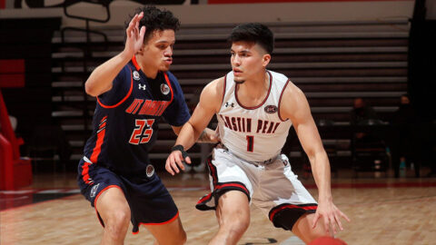 Austin Peay State University Men's Basketball sophomore guard Carlos Paez scored 17 points and had 4 rebounds in win against UT Martin Thursday afternoon. (APSU Sports Information)