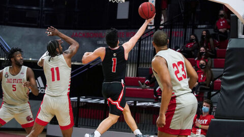 Austin Peay State University Men's Basketball closes out regular season with loss to Jacksonville State. (APSU Sports Information)