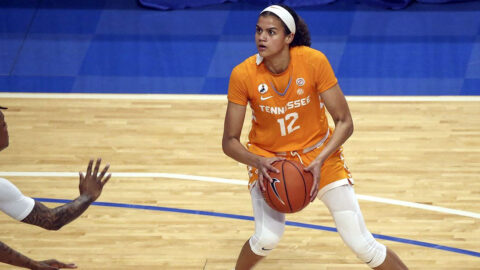 Tennessee Women's Basketball junior Rae Burrell had 22 points and six rebounds in loss at Kentucky. (UT Athletics)
