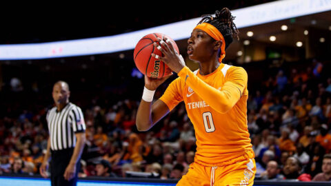 Tennessee Women's Basketball senior Rennia Davis had 25 points and four rebounds in loss to Texas A&M, Sunday. (UT Athletics)
