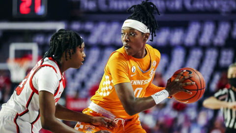 Tennessee Women's Basketball senior Rennia Davis had 22 points and six rebounds in loss to Georgia, Sunday. (UT Athletics)