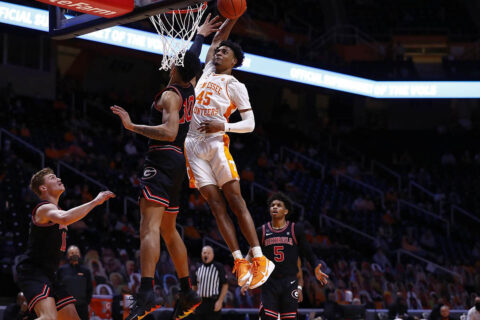 Tennessee Men's Basketball freshman Keon Johnson had 11 points in victory over Georgia at Thompson-Boling Arena, Wednesday night. (UT Athletics)