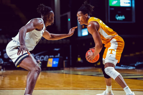 Tennessee Men's Basketball leaves Nashville with 70-58 win over Vanderbilt Wednesday night. (UT Athletics)