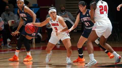 Austin Peay State University Women's Basketball loses defensive battle to UT Martin at the Dunn Center. (Robert Smith, APSU Sports Information)